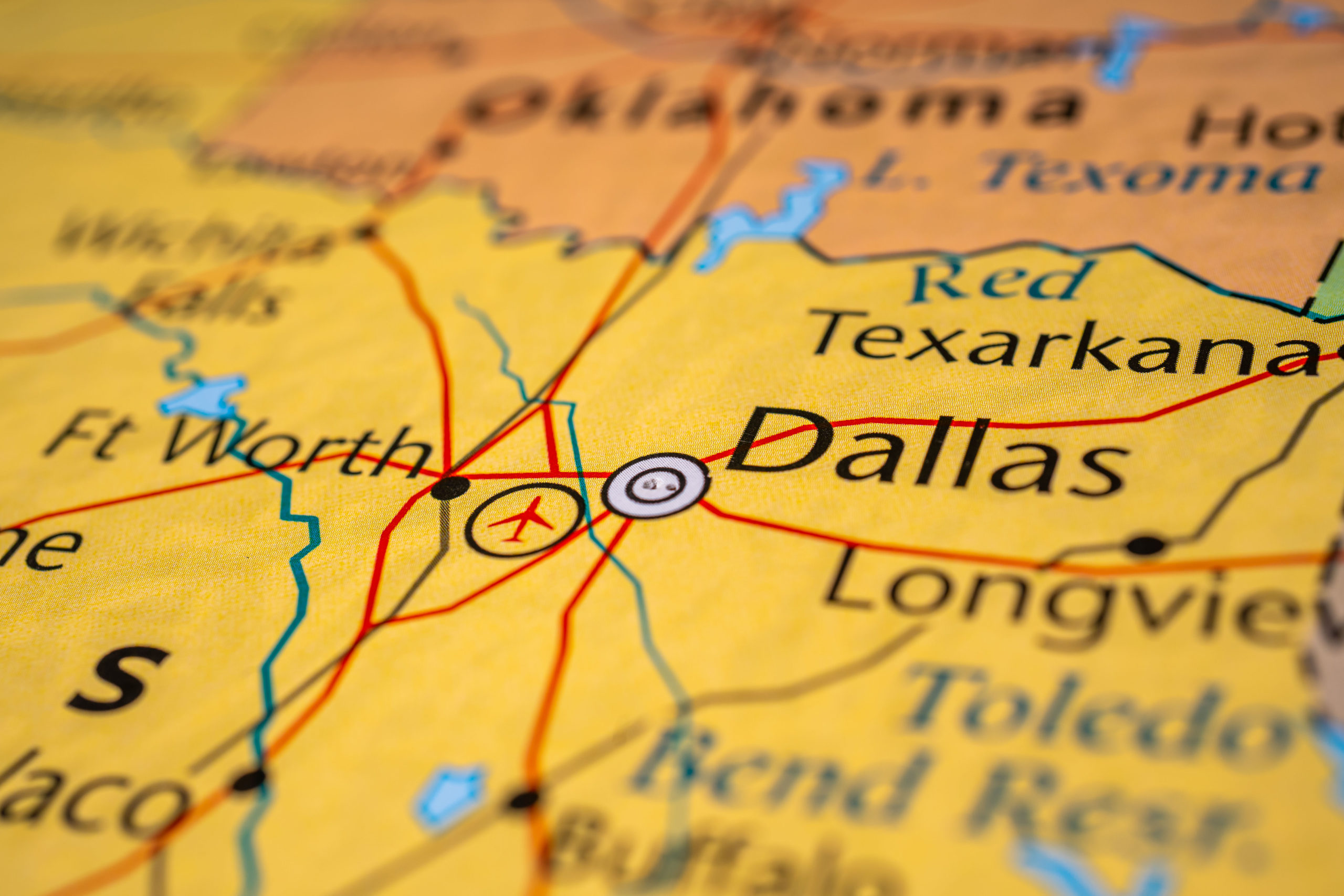 Dallas,On,The,Map,Of,Usa